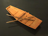 Two H0 rowing boats with oars 3d printed