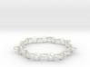 yoga jewelry bracelet - downward facing dog  3d printed