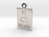 Cl Periodic Pendant 3d printed
