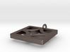 Breeze Block Pendant #3 -  Polished Steel 3d printed