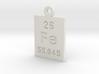 Fe Periodic Pendant 3d printed