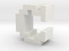 """C"" inch size NES style pixel art font block 3d printed"