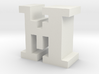 """M"" inch size NES style pixel art font block 3d printed"