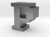 """P"" inch size NES style pixel art font block 3d printed"