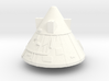 1:100 Scale Block II Apollo BPS 3d printed