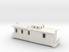 S Scale Caboose with Interior 3d printed This is a render not a picture