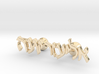 "Hebrew Name Cufflinks - ""Eliezer Yona"" 3d printed"