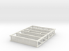 HO Warehouse Pallet Racks Shelving 3d printed