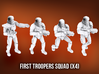 First Troopers Squad A (x4) 3d printed