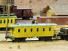 Virginia & Truckee Miner's Caboose N Scale 3d printed Finished model (trucks, couplers, brass wire for handrails, truss rods, decals not included.)