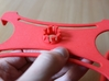 Rotary support for smartphones (example) 3d printed Platform - back view