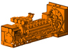 1/64th v-16 Diesel electric generator cabinet 3d printed shown mounted on engine