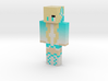 Sporty_wolf_teal | Minecraft toy 3d printed