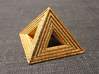 Pyramid 3d printed Polished gold steel