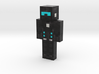 The Xenon Knight | Minecraft toy 3d printed
