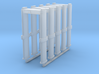 HO Scale 5 Metal Detector Walkthrough Gates 3d printed