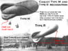 Caquot  Type M Observation Balloon Two-Pack 3d printed Differentiating between Caquot Type M and Type R balloons