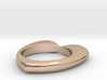 Heart ring (custom text) - 17 1/4 EUR - 7 US 3d printed