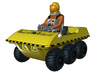 SPACE 2999 1/93 BUGGY W ASTRONAUT 3d printed Render of the current 3D model.