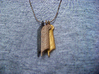 Feather of Ma'at Pendant 3d printed Polished Gold Steel, Polished Bronze Steel,
