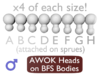 1:18 Action Figure MALE Neck Barbell Adapter -AWOK 3d printed