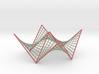 Hyperbolic Paraboloid Doubly Ruled Surface Custom2 3d printed