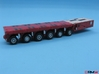 HO/1:87 spmt 6 axle with ppu 3d printed painted & assembled