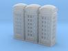 SET 3x Telephone box K2 (British N 1:148) 3d printed