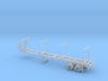 Timber Trailer With Wheels Assembled 1-87 HO Scale 3d printed