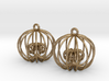 Golden Ratio Cage Earings  --mk1 3d printed