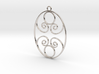 Golden Ratio Oval pendant -- mk1  3d printed