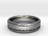 6mm Morse Code Ring [Customisable] - US Size 9.5 3d printed