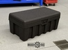 Tuff Box Base (Half Depth) 3d printed Shown with Lid (Purchased Separately)