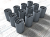1/56 Royal Navy MKVII Depth Charges x12 3d printed 1/56 Royal Navy MKVII Depth Charges x12