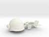 USCM helmet with fabric cover 1/10 scale 3d printed