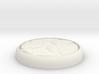 "Cobblestone 1"" Circular Miniature Base Plate 3d printed"