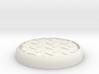"Diamond 1"" Circular Miniature Base Plate 3d printed"