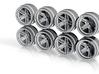 Stratos 7-9 Hot Wheels Rims 3d printed