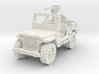 Jeep willys 30 cal (window up) 1/56 3d printed