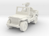 Jeep willys 30 cal (window up) 1/120 3d printed