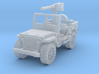 Jeep Willys 50 cal (window up) 1/220 3d printed
