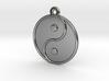 Engraveable Chinese Ying Yang Pendant  ~mk 2~ 3d printed