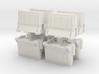 Interlocking traffic barrier (x8) 1/24 3d printed