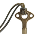 Drum Key - Wearable & Functional by SCAD Design 3d printed Polished Bronze & 3mm Leather Cord.