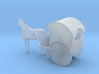 HO Scale Horse Drawn Two Wheel Buggy 3d printed This is a render not a picture