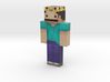 king | Minecraft toy 3d printed