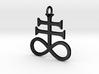Leviathan Cross Pendant 3d printed