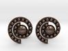 Nature Spiral Cufflinks 3d printed