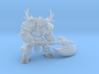 Knight with Axe DnD 1/60 miniature for games - rpg 3d printed