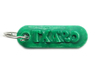 TXARO Personalized keychain embossed letters 3d printed